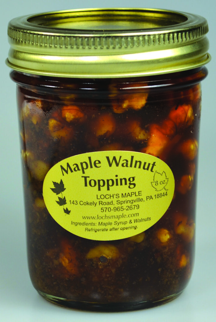 Maple walnut topping